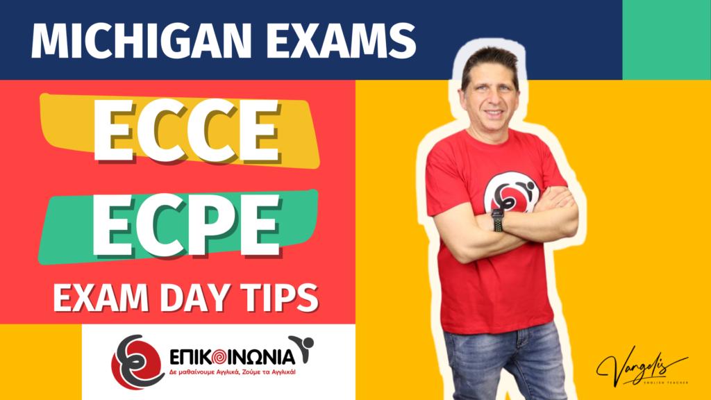 Εξετάσεις Αγγλικών Michigan Lower ECCE – ECPE Proficiency